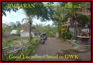 Jimbaran Ungasan BALI 420 m2 LAND FOR SALE TJJI083